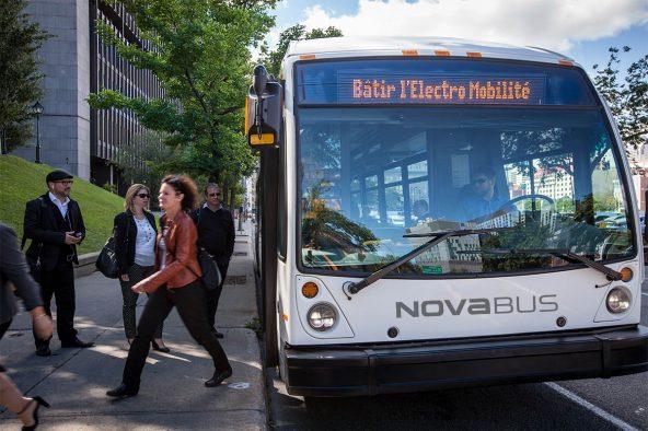 Deux autobus électriques Nova Bus à Vancouver dans le cadre du projet CRITUC