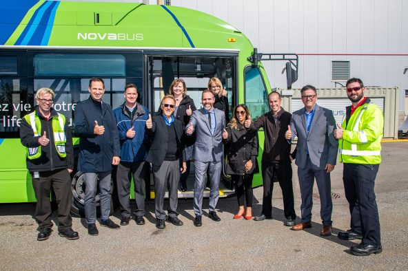 Nova Bus electric bus exhibited in Ottawa