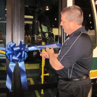 Nova Bus unveiling Sudbury Transit new LFS buses