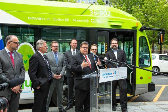 La mise en service d'autobus entièrement électrique à Montréal