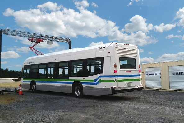 First electric bus to pass the new FTA Pass/Fail standard in Altoona:  The Nova Bus LFSe