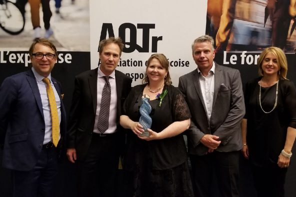 Nova Bus wins the public choice award at the 2018 grands prix d'excellence en transport