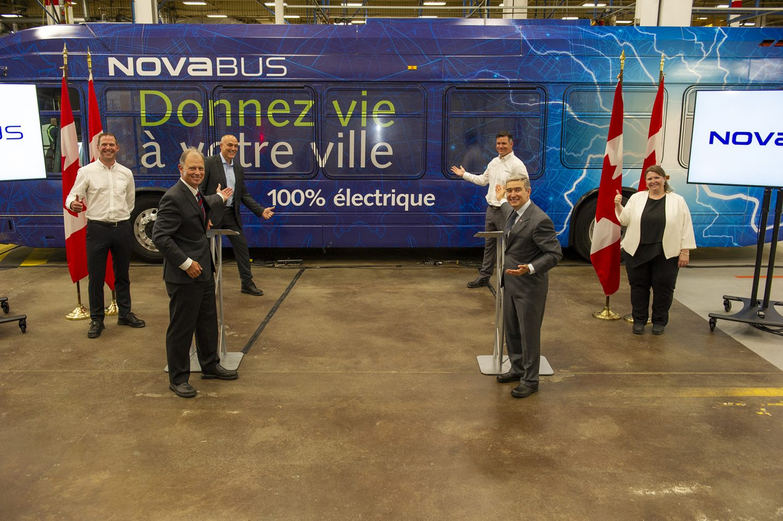 Nova Bus continue d'investir dans sa croissance, l'innovation et la technologie avec le soutien du gouvernement du Canada